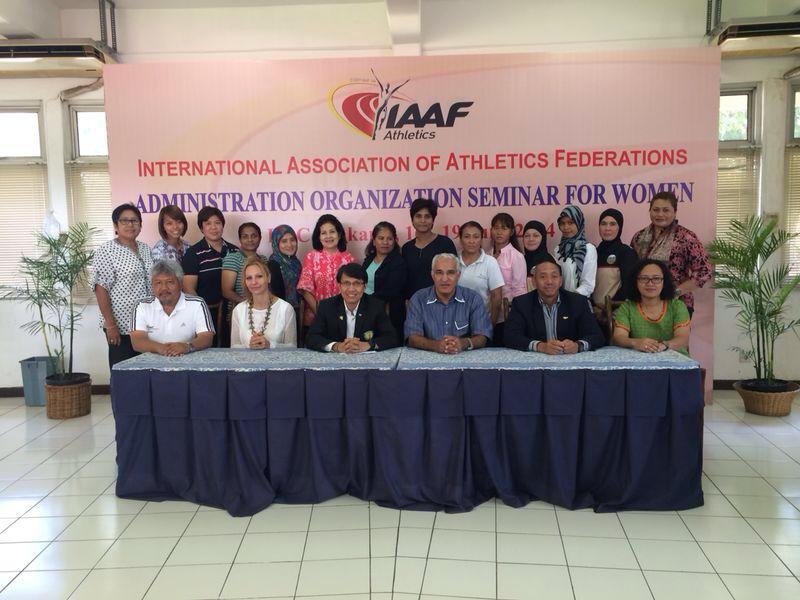 SAA has sent its Chief of SDP Asmah Hanim to Jakarta for the IAAF Administration Organization Seminar for Women