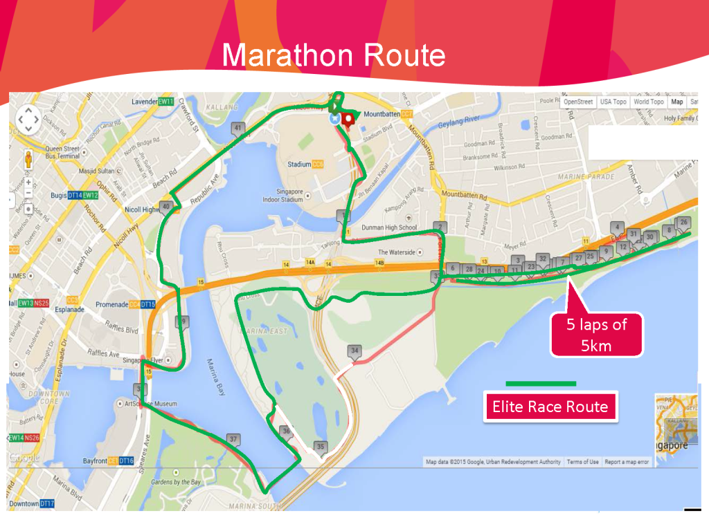 SEA Games 2015 Marathon Route