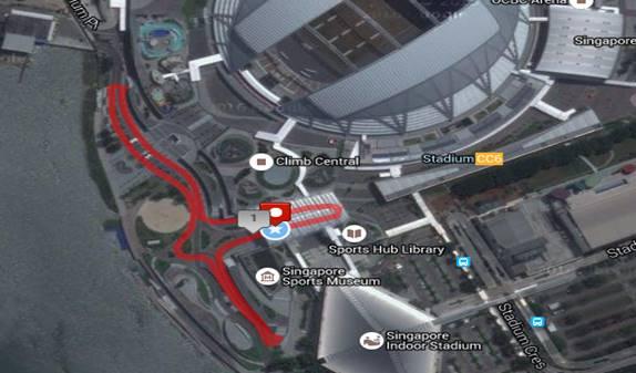 singapore open racewalk 2016 map
