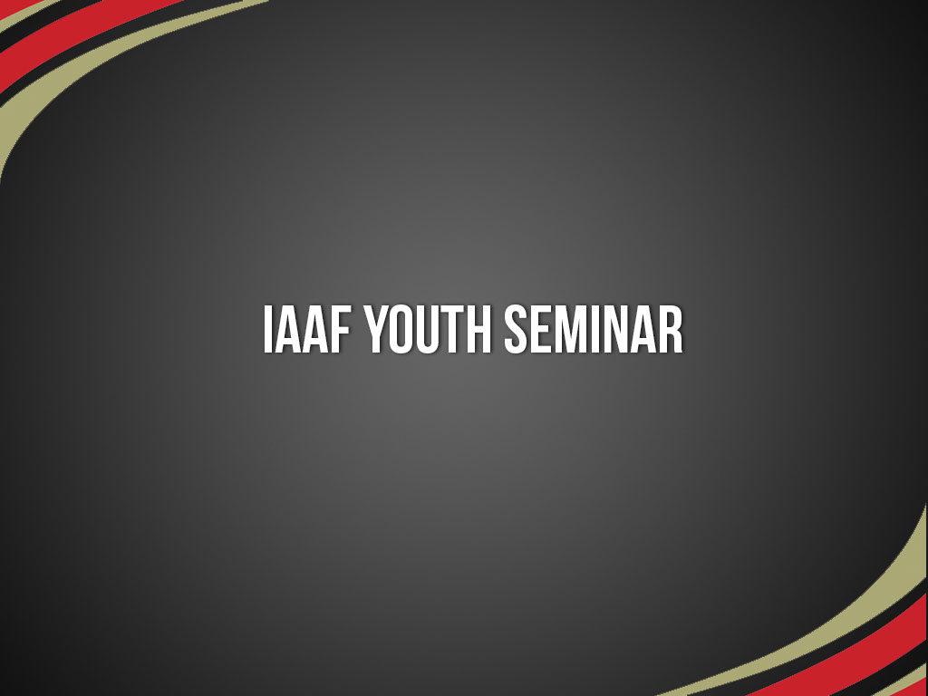 IAAF-Youth-Seminar