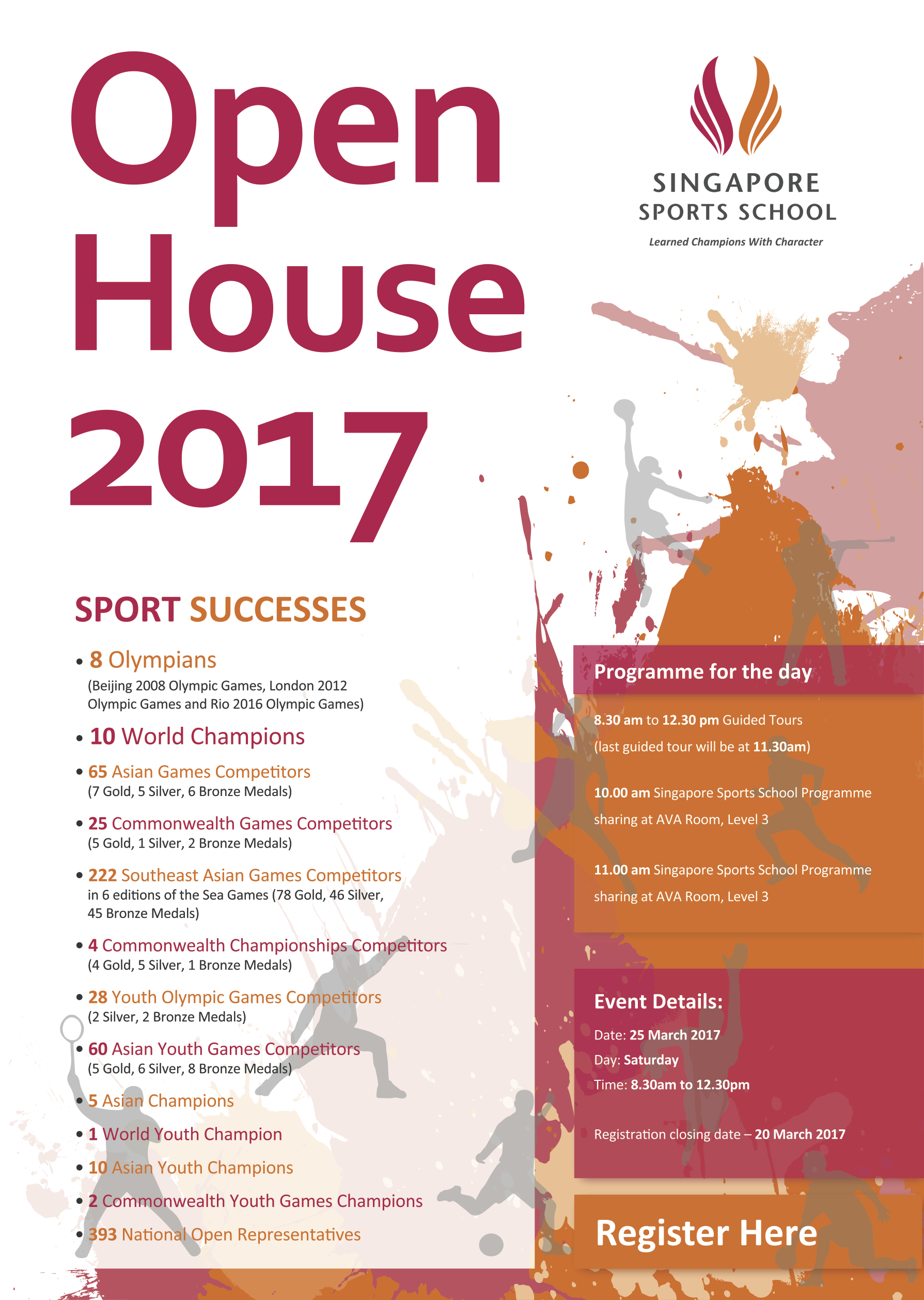 singapore sports school open house on 25 march 2017 | singapore