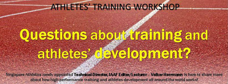 Athletes Training Workshop 19 June by Singapore Athletics