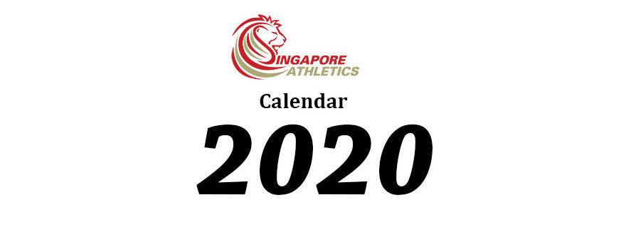 Singapore Athletics Calendar for 2020