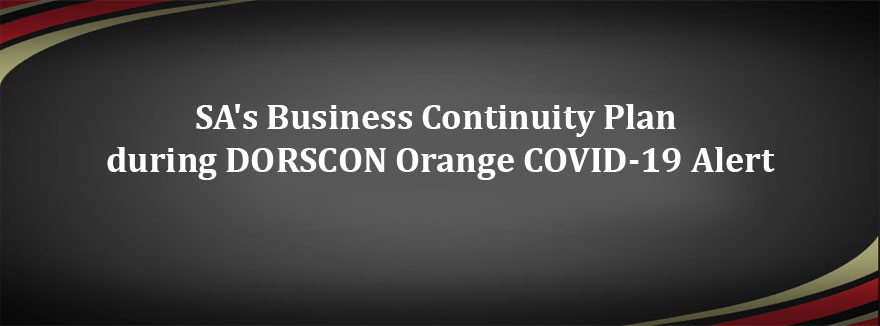 SA's Business Continuity Plan during DORSCON Orange COVID-19 Alert