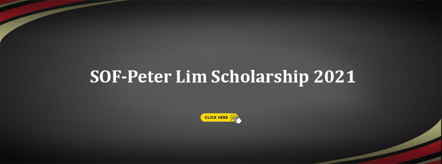 SOF-Peter Lim Scholarship – 11 January to 10 February 2021 application period
